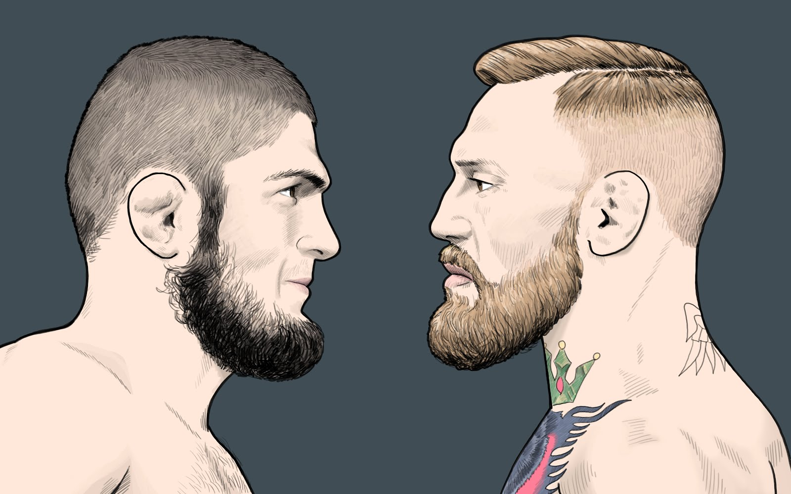 Khabib v Conor McGregor Illustration