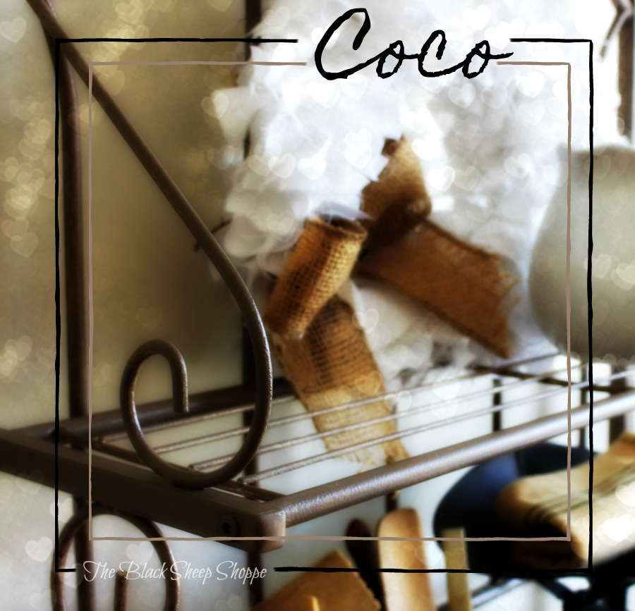 Coco chalk paint was used to give this old baker's rack some style.
