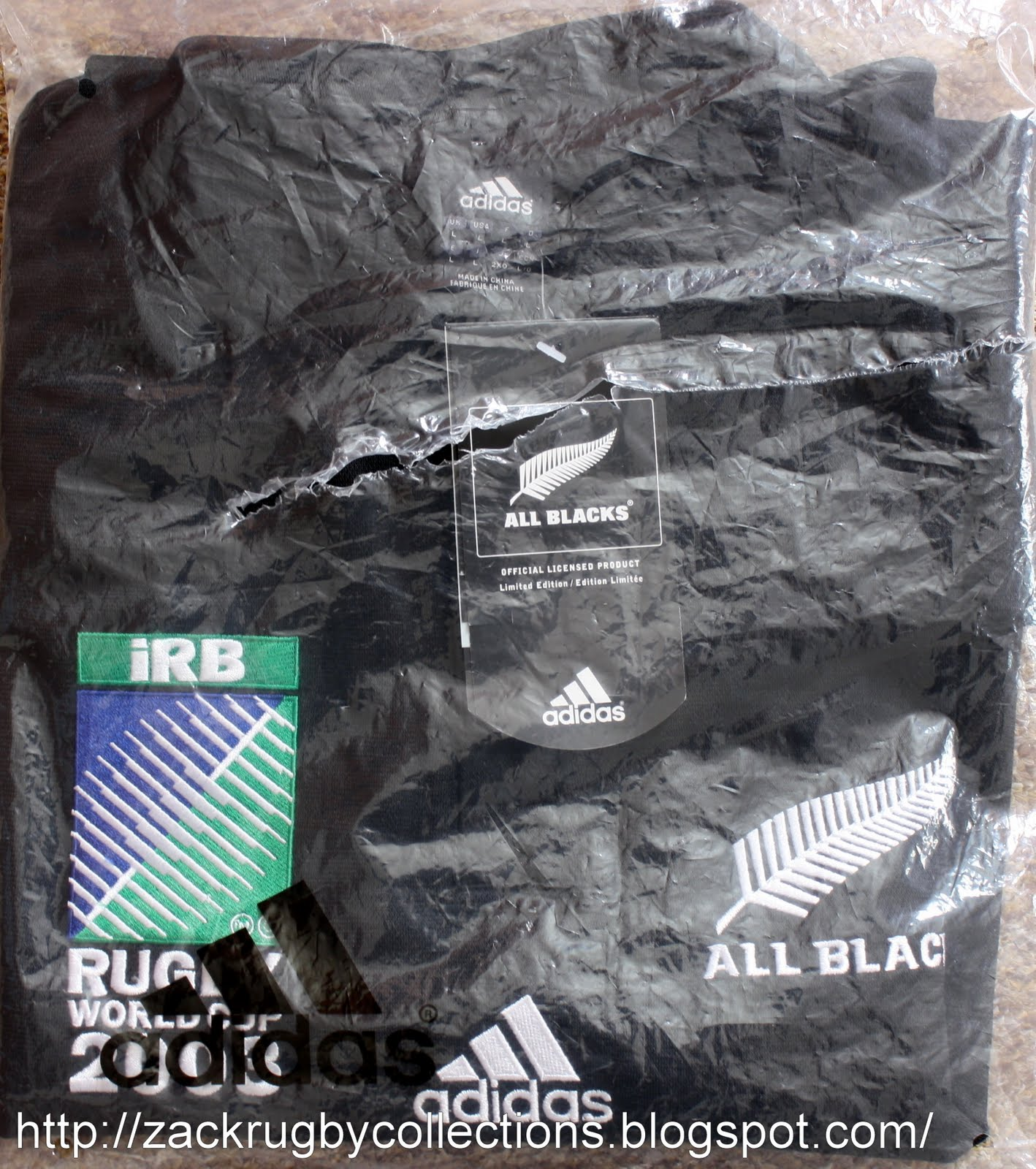 dcf3730b7cd New Zealand All Blacks SS Rugby World Cup 2003 LTD Edition Rugby Jersey  made by Adidas. Official All Blacks LTD Edition rugby jersey released for  Rugby ...