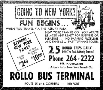 Aberdeen Nj Life History 10 Wk For Bus Commute Between