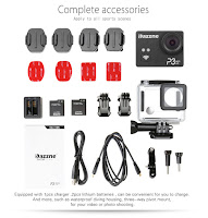 Dazzne P3 Wifi Sports Action Camera Accessories