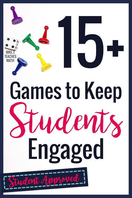 I love these math games for middle and high school students! They are great for small groups or whole class activities. It's so nice to be able to find free teaching ideas like these.