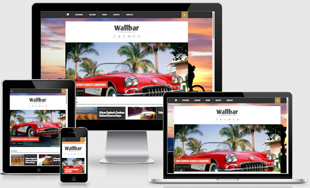Wallbar Photo Responsive Blogger Templates