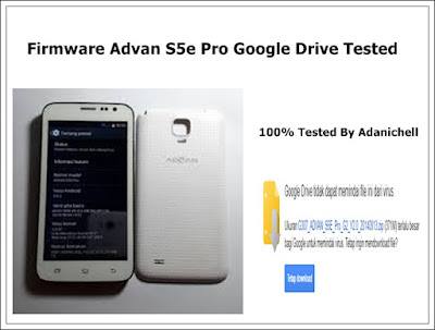 Firmware Advan S5e Pro Google Drive Tested
