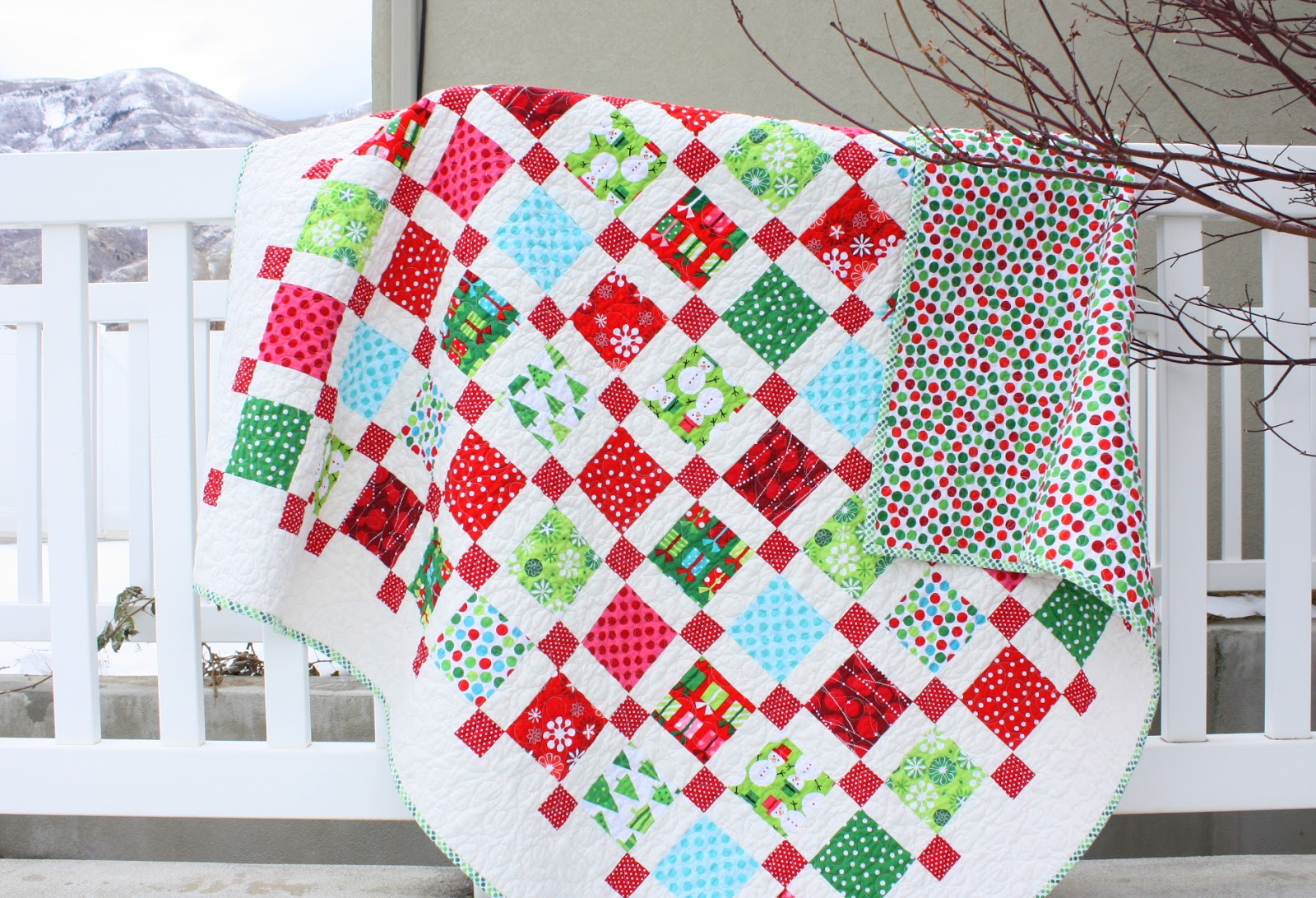 Brights Christmas Quilt Diary Of A Quilter A Quilt Blog
