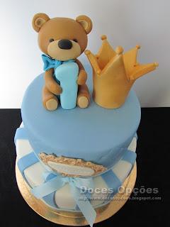 bolo ursinho coroa bragança doces opções