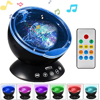 Totobay Color Night Light Projector with Music Player