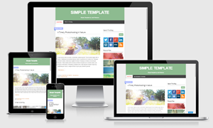Simple Responsive Blogger Template by Josh Peterson
