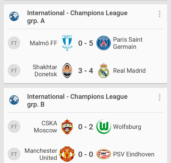 uefa champions league wednesday final scores and group standings uefa champions league wednesday final scores and group standings