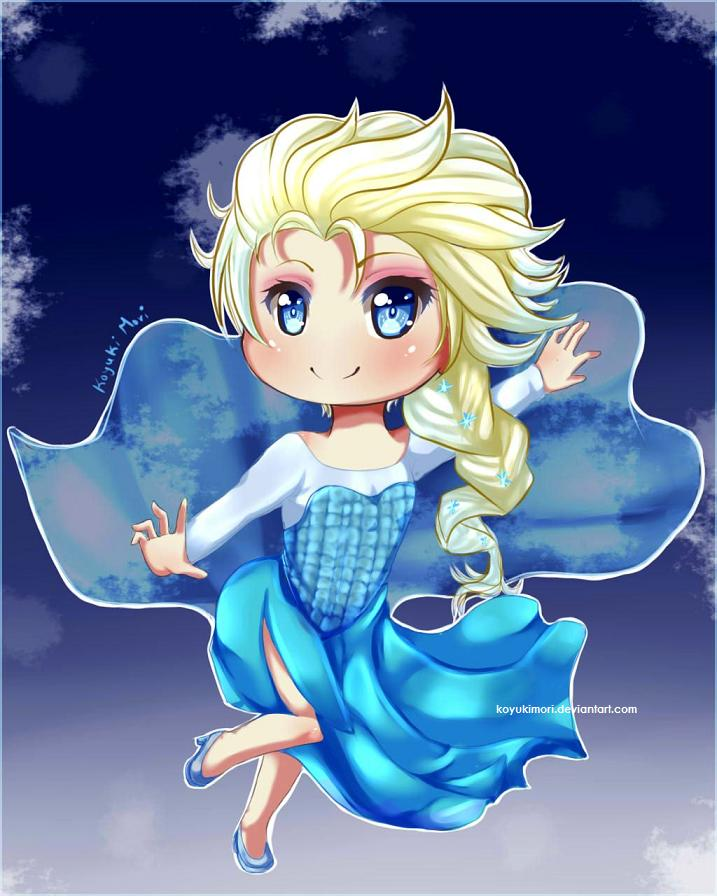 princess Elsa chibi công chúa nữ hoàng băng giá 2