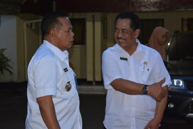 Plt. Sekda Trenggalek terima kunjungan Kepala Badan Narkotika Nasional Provinsi (BNNP) Jawa Timur
