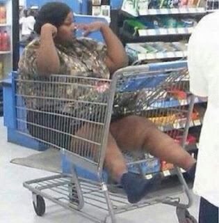 Meanwhile at Walmart Lazy Woman Stuck