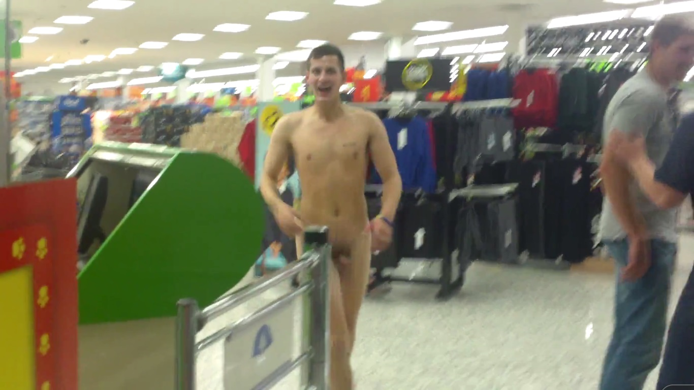 supermarket naked guy