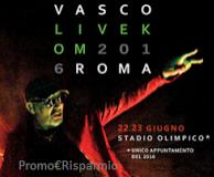 Logo Vinci gratis i biglietti per il LIVE KOM 016 di Vasco Rossi