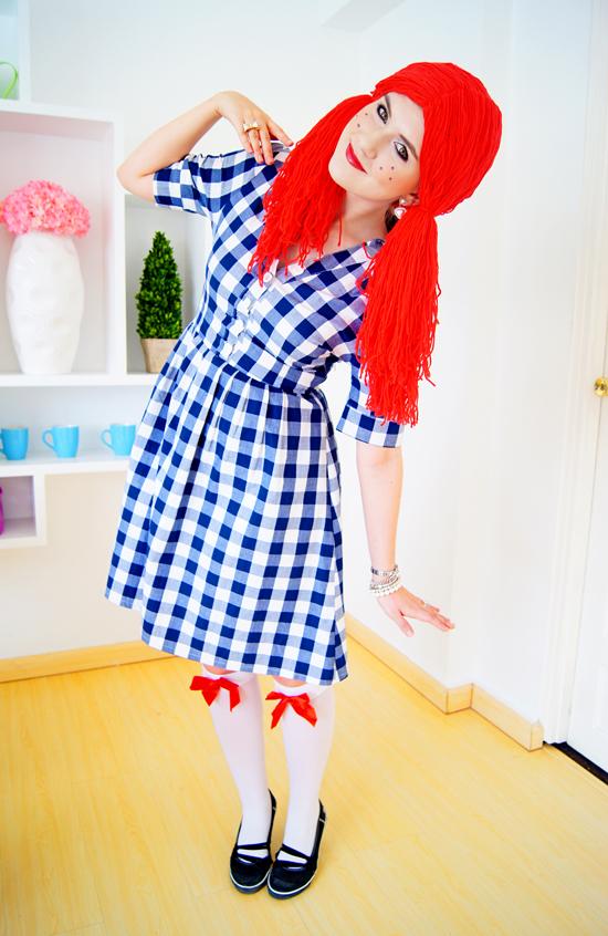 Easy Homemade Rag Doll Costume Tutorial for Halloween