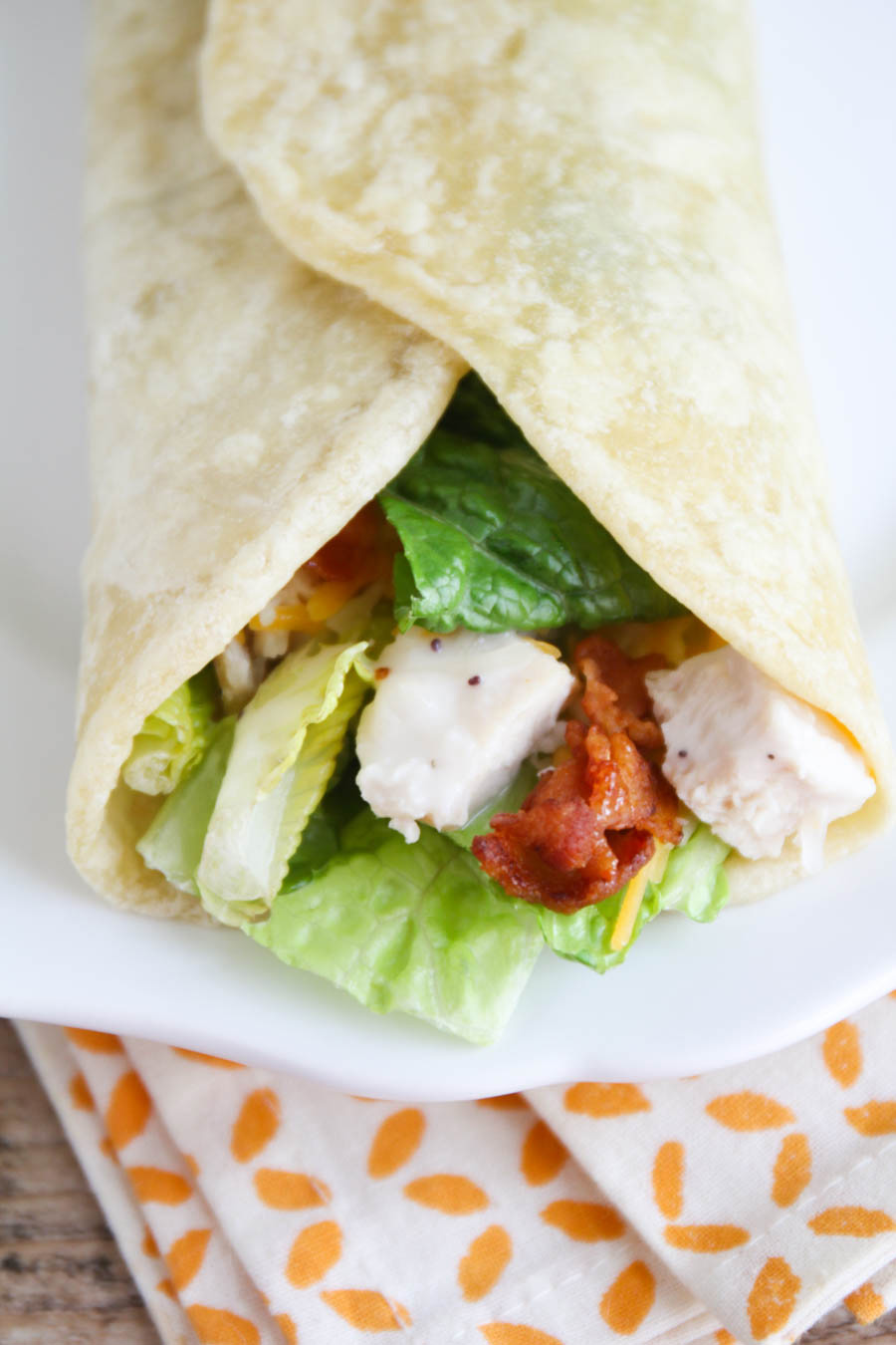 These simple and delicious chicken club wraps are the perfect easy lunch!