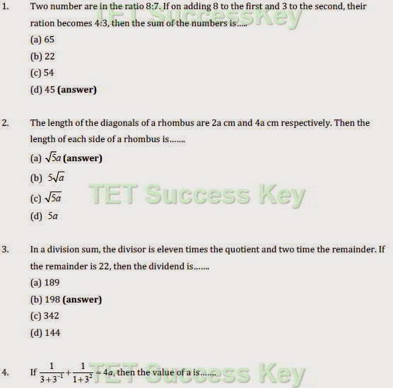 CTET EXAM  Practice Sets, TET Practice Paper Set (Elementary Mathematics-Paper-2) Guess Papers, HTET, UPTET EXAM NOTES, TET Study Material, PDF Exam Notes.
