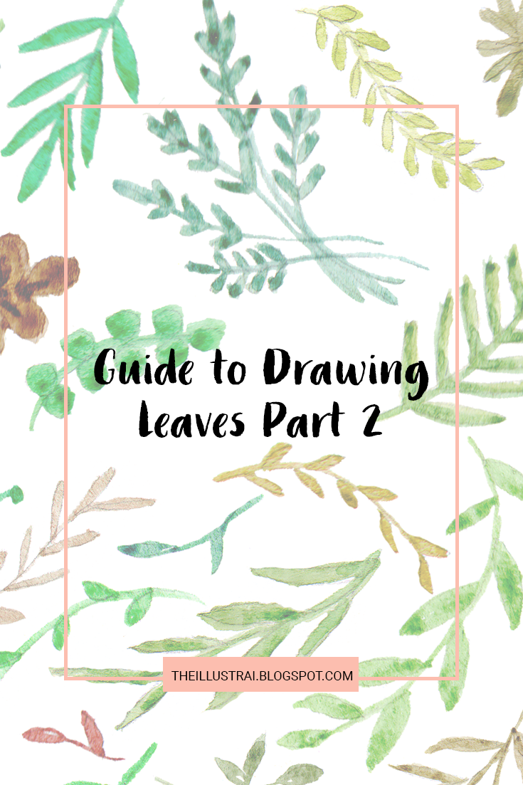 If you like drawing plants and flowers as much as I do, then you probably find yourself getting in a rut and drawing the exact same styles over and over again. As a result, I have created this reference so that you can switch up the leaf styles in your artwork.  This is part two of my guide to drawing leaves series