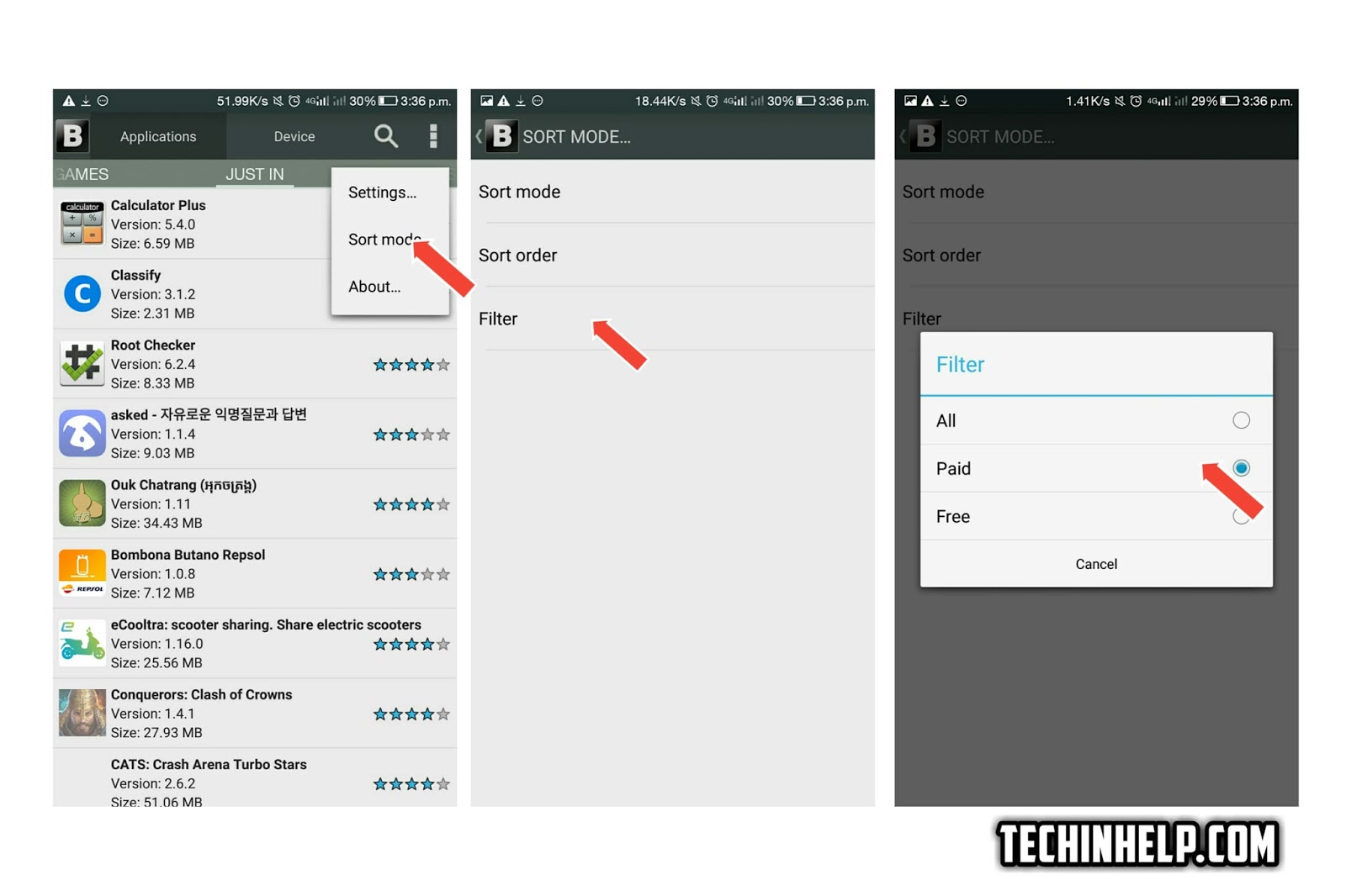 Settings for download paid Apps for free
