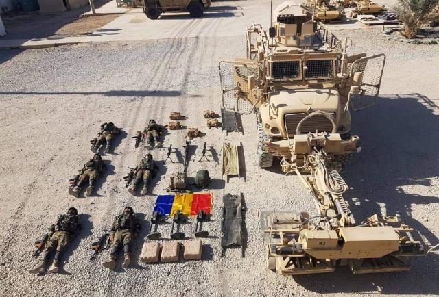 MRAP з тралом румунських саперних військ