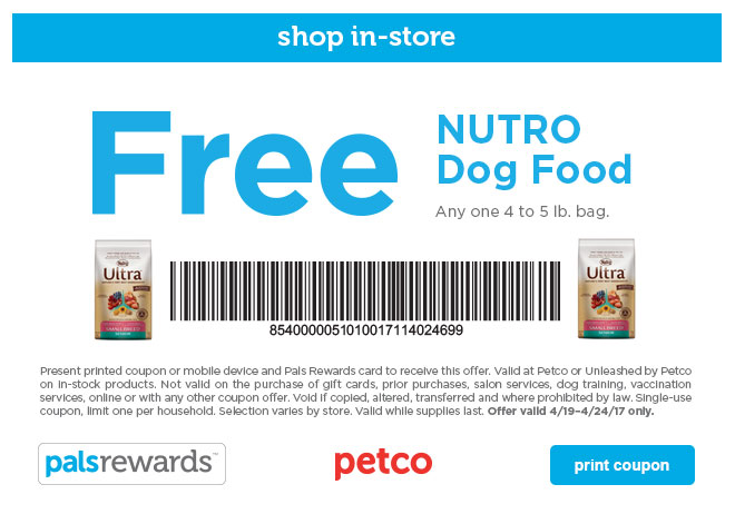 Free Bag Of Dog Food Coupon