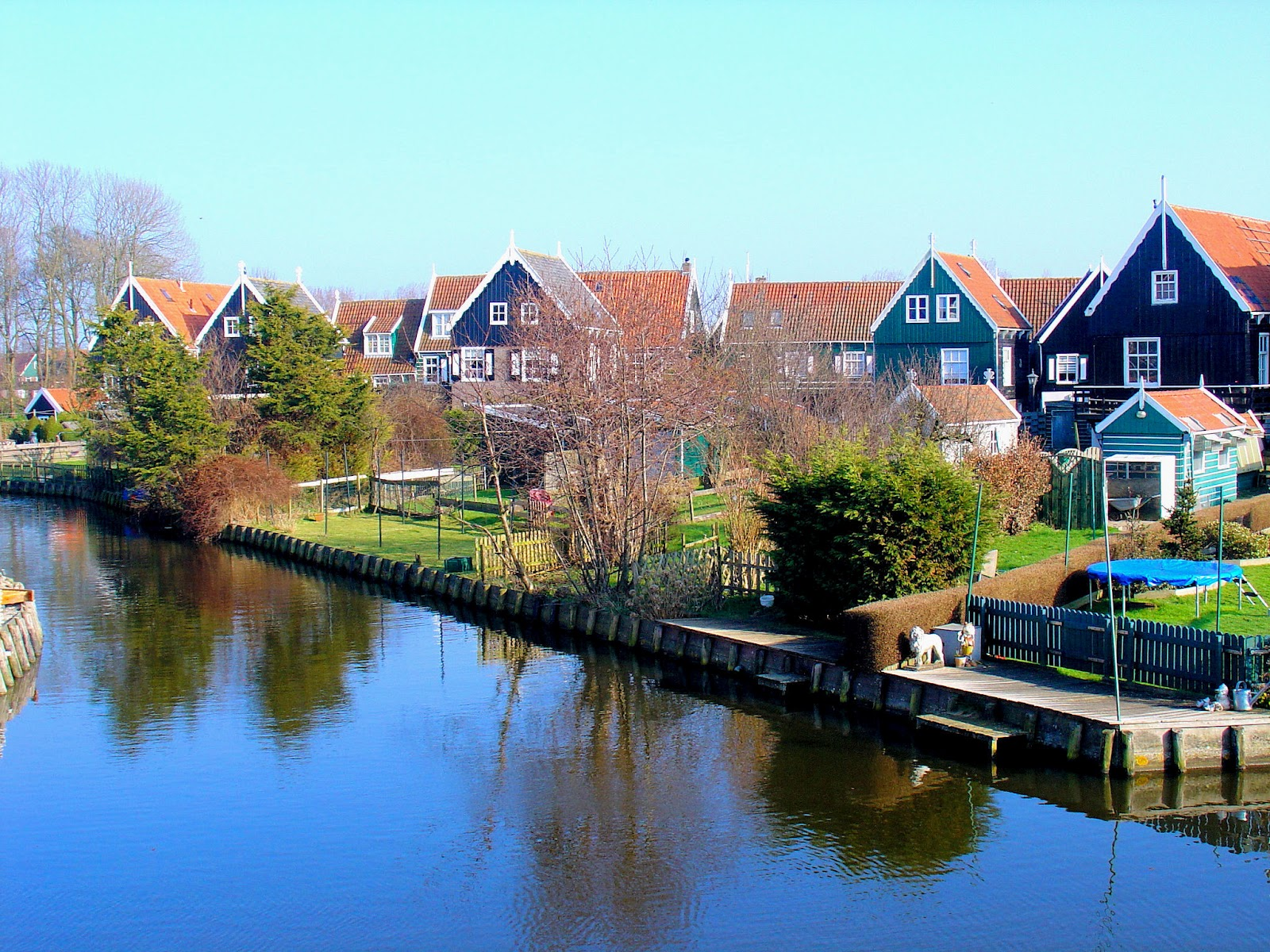 The Splendor Of The Seaside Village Of Marken In The Netherlands
