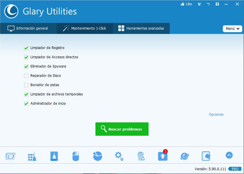 Glary Utilities Pro 5.90 Utilidades de sistema todo en uno para optimizar