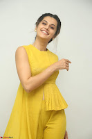 Taapsee Pannu looks mesmerizing in Yellow for her Telugu Movie Anando hma motion poster launch ~  Exclusive 057.JPG