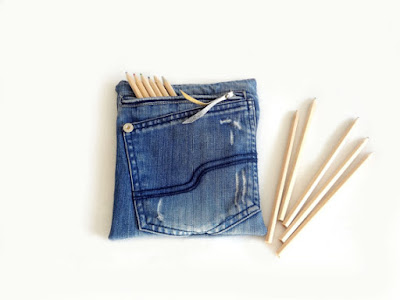 Jeans Fabric Pencil Case