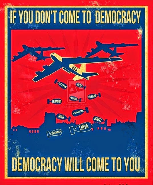 """If you don't come to democracy, democracy will come to you."""