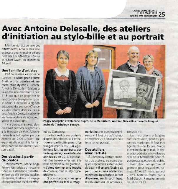 Article de presse Antoine Delesalle