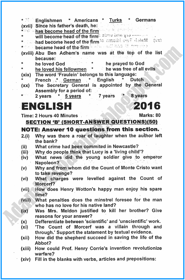 xi-english-past-year-paper-2016