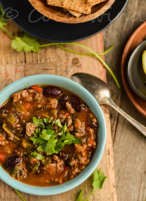 3 Bean Chicken Chili with Kale