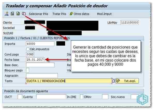 Cuotas en SAP - Consultoria SAP