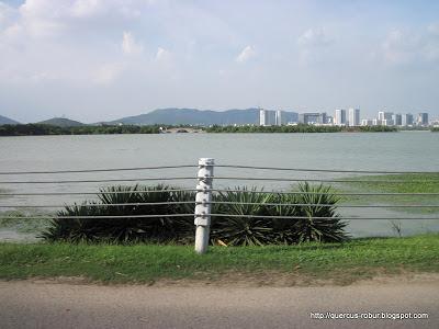 Wuxi al fondo - Bordeando el Gran Lago