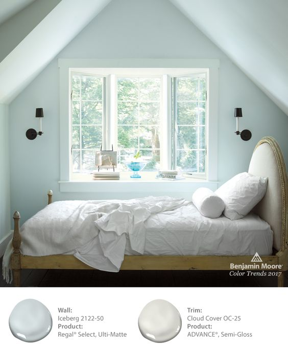 Benjamin Moore Iceberg is one of 24 beautiful colors in the 2017 color palette