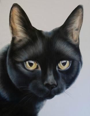 Pet Portrait Black Cat