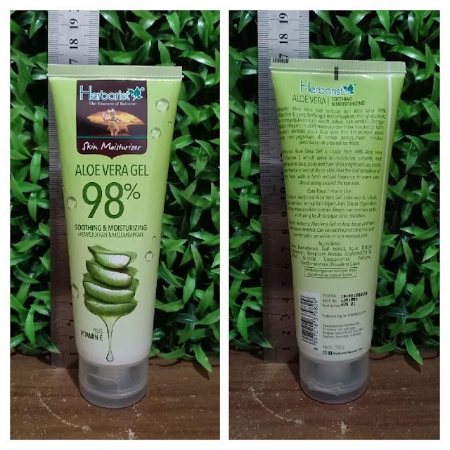 produk herborist aloe vera gel 98 skin