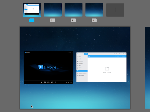 deepin multitask overview