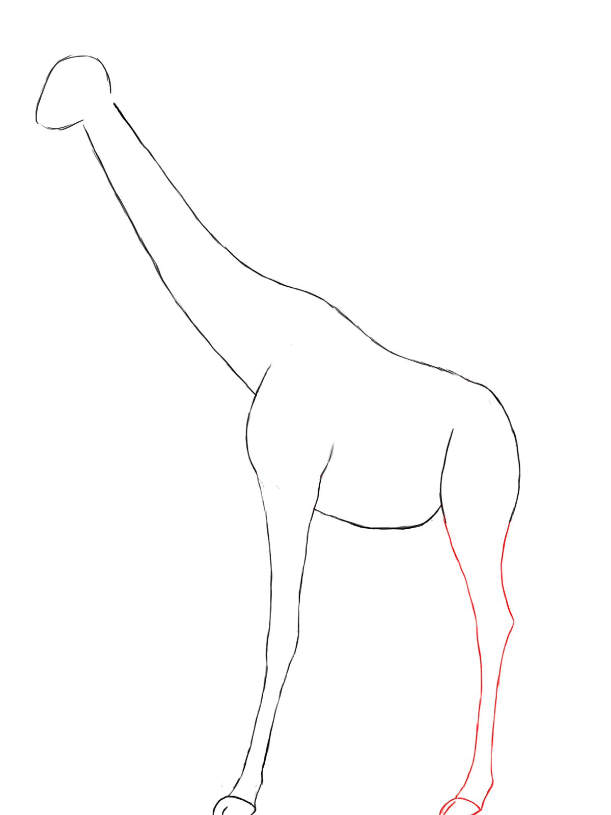 Simple Giraffe Drawing
