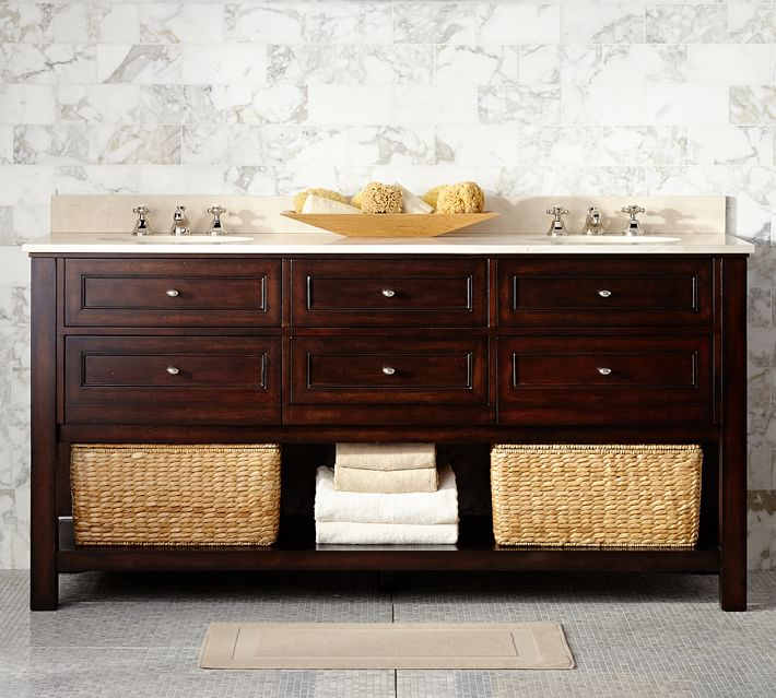 5 bathroom vanities like pottery barn's classic console : find