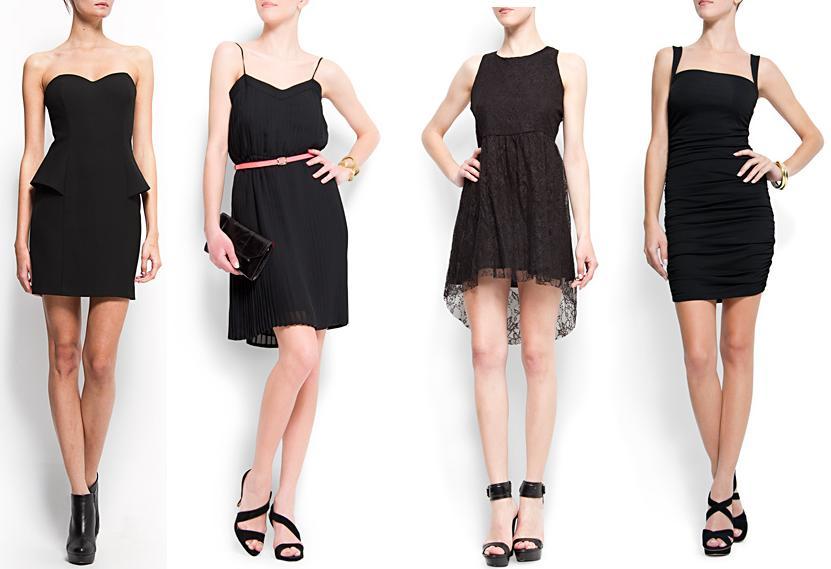 350c4fc8c Vestidos de noche negros 2012