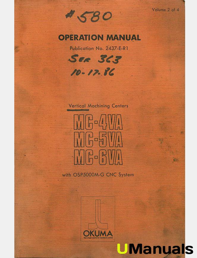 Okuma Operation manual