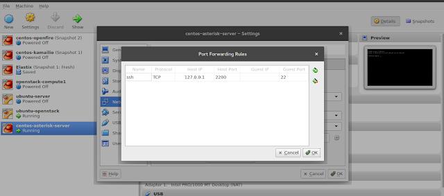 set port forwarding for ssh
