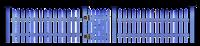 portão com grade azul em png