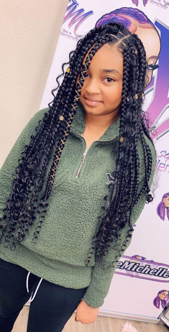 +26 Amazing Goddess Box Braids Hairstyles Ponytails ...