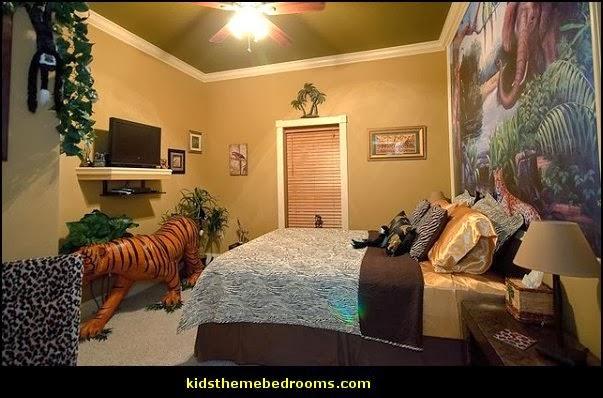 title   Animal Print Tropical Bedroom Ideas