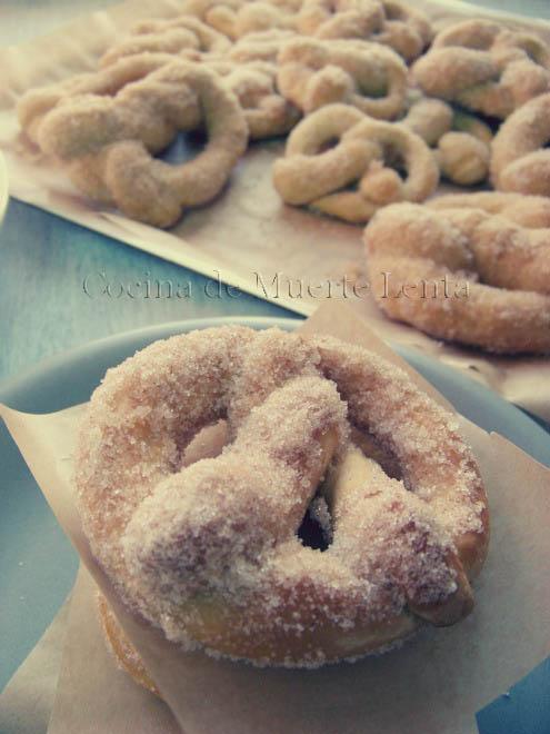 Pretzels con Azúcar y Canela