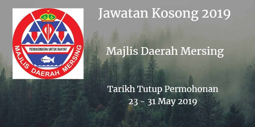 Jawatan Kosong Majlis Daerah Mersing 23 - 31 May  2019