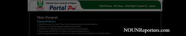 Important Notice before making Payment on Remita platForm